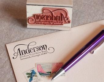 modern custom return address stamps stationery by chattypress