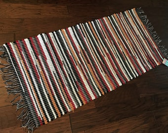 Warm and cozy colors in this handwoven rag rug
