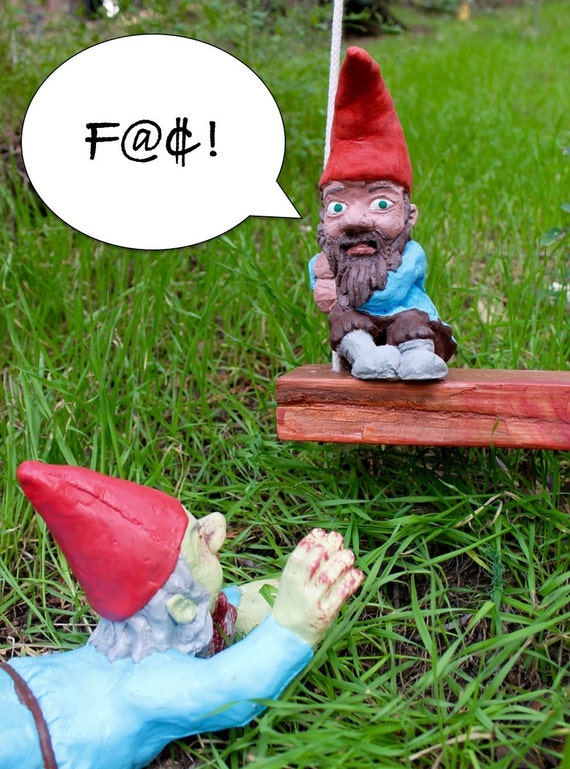 Special Edition Zombie Gnome: Swinging Sam w/ Mega-Larry | Etsy