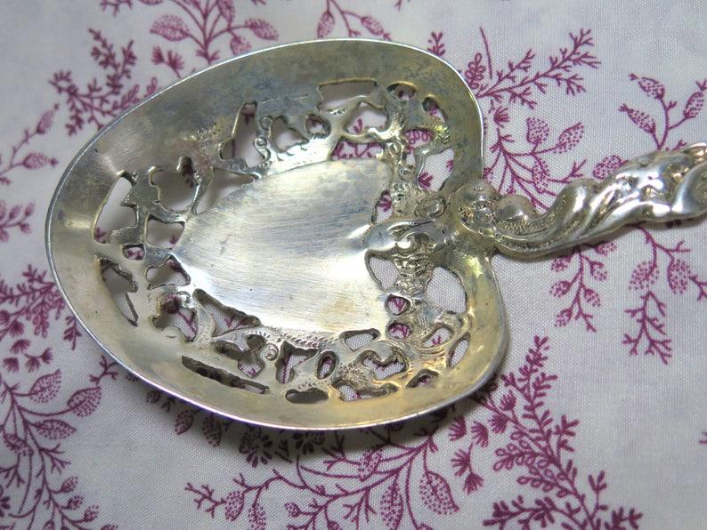 Vintage Sterling Serving Spoon