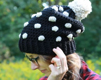 Crocheted Textured Winter Hat / THE ABBIE