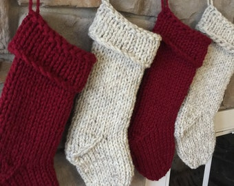 Chunky knit stocking | Etsy