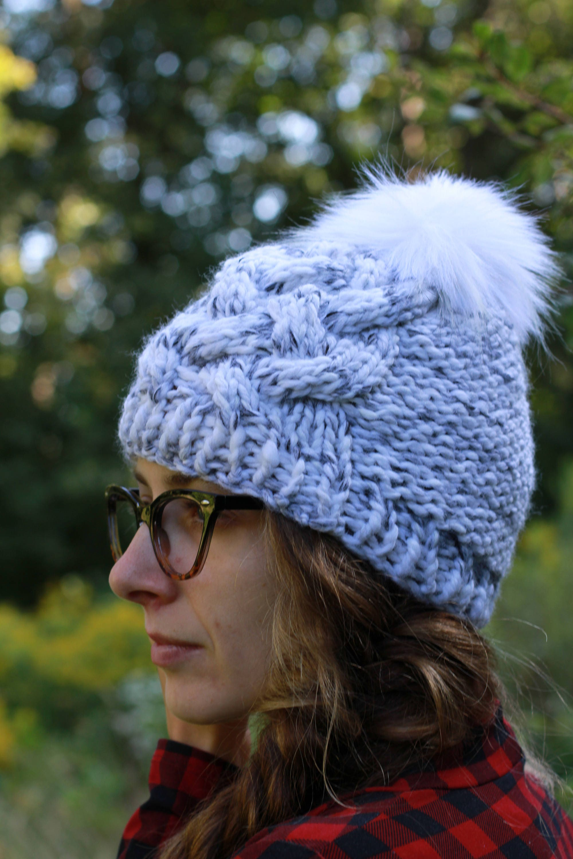 da743dc1b41 Handmade Cabled Knit Textured Winter Hat   THE WHITTNEY Petite