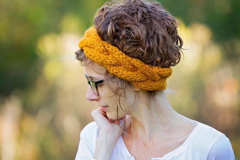 6852121ebf9b Cable Knit Headband Headwrap Earwarmer   THE WATER TRIBE