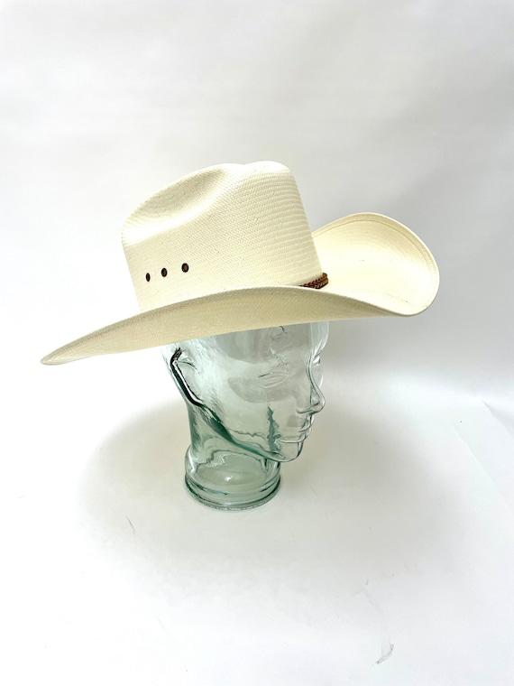 White Western Straw Hat Resistol Weatherproof Whi… - image 2