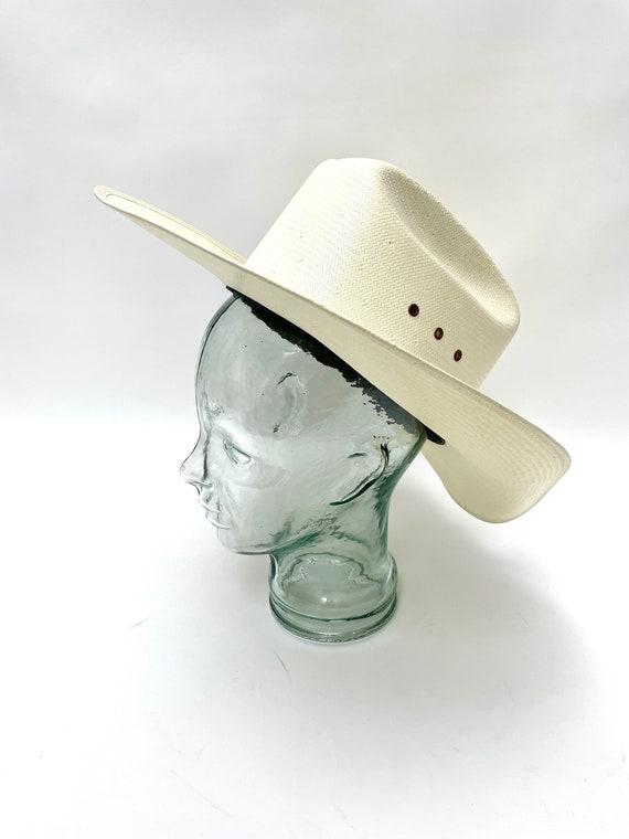 White Western Straw Hat Resistol Weatherproof Whi… - image 5