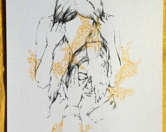 Golden Uncertainties- Silk Screen Art Print