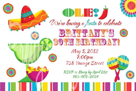 fiesta fun invitation u print birthday cinco de mayo shower