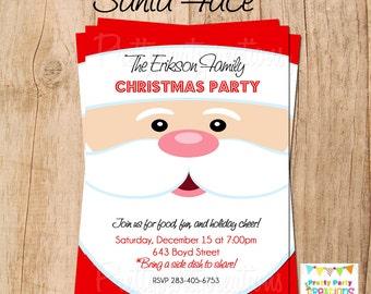 SANTA FACE holiday invitation - YOU Print