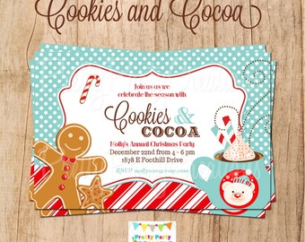 COOKIES and COCOA holiday invitation - YOU Print