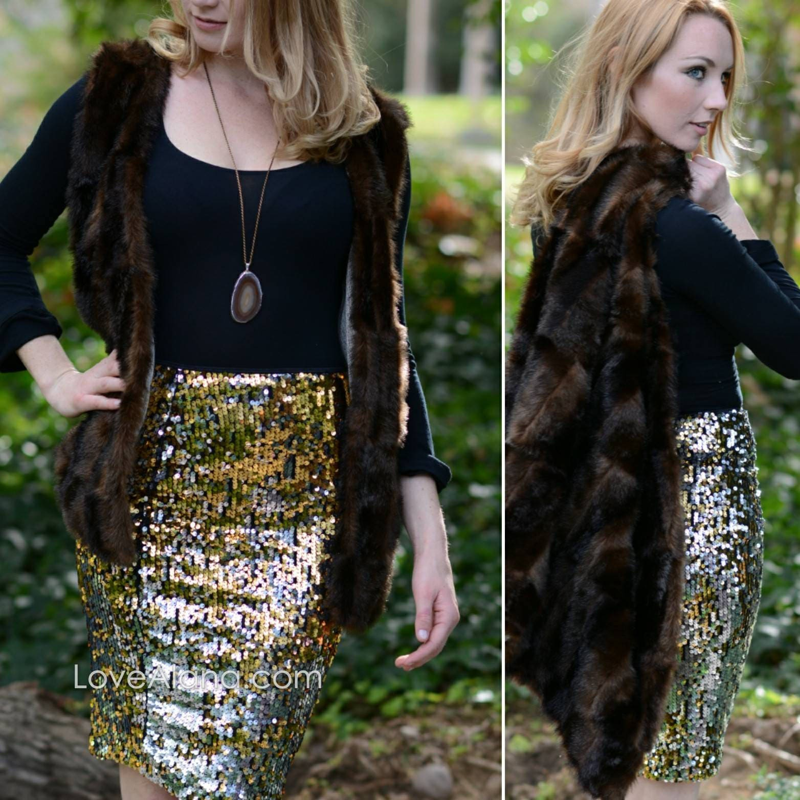 0221b48b48 CLEARANCE Silver/Gold/Black Sequin Pencil Skirt - full sequins (S, M ...