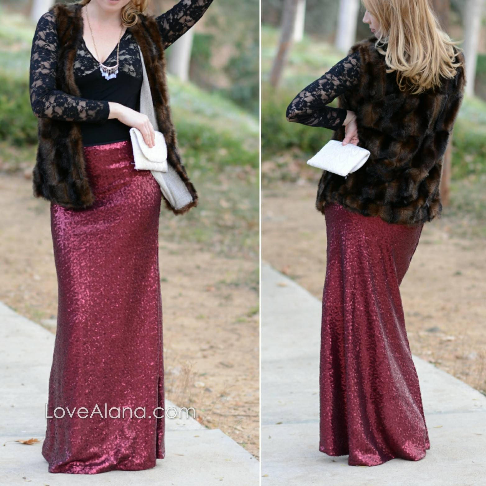 ae837fea0 15% OFF - Matte Wine Maxi Sequin Skirt - Gorgeous high quality ...