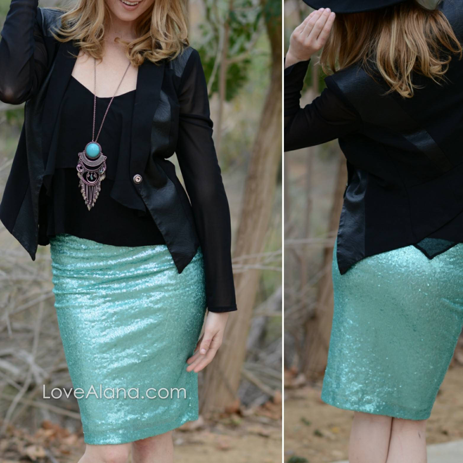 ec56167dec 10% OFF CLEARANCE M Only - Light Blue Sequin Skirt- 21 inches ...