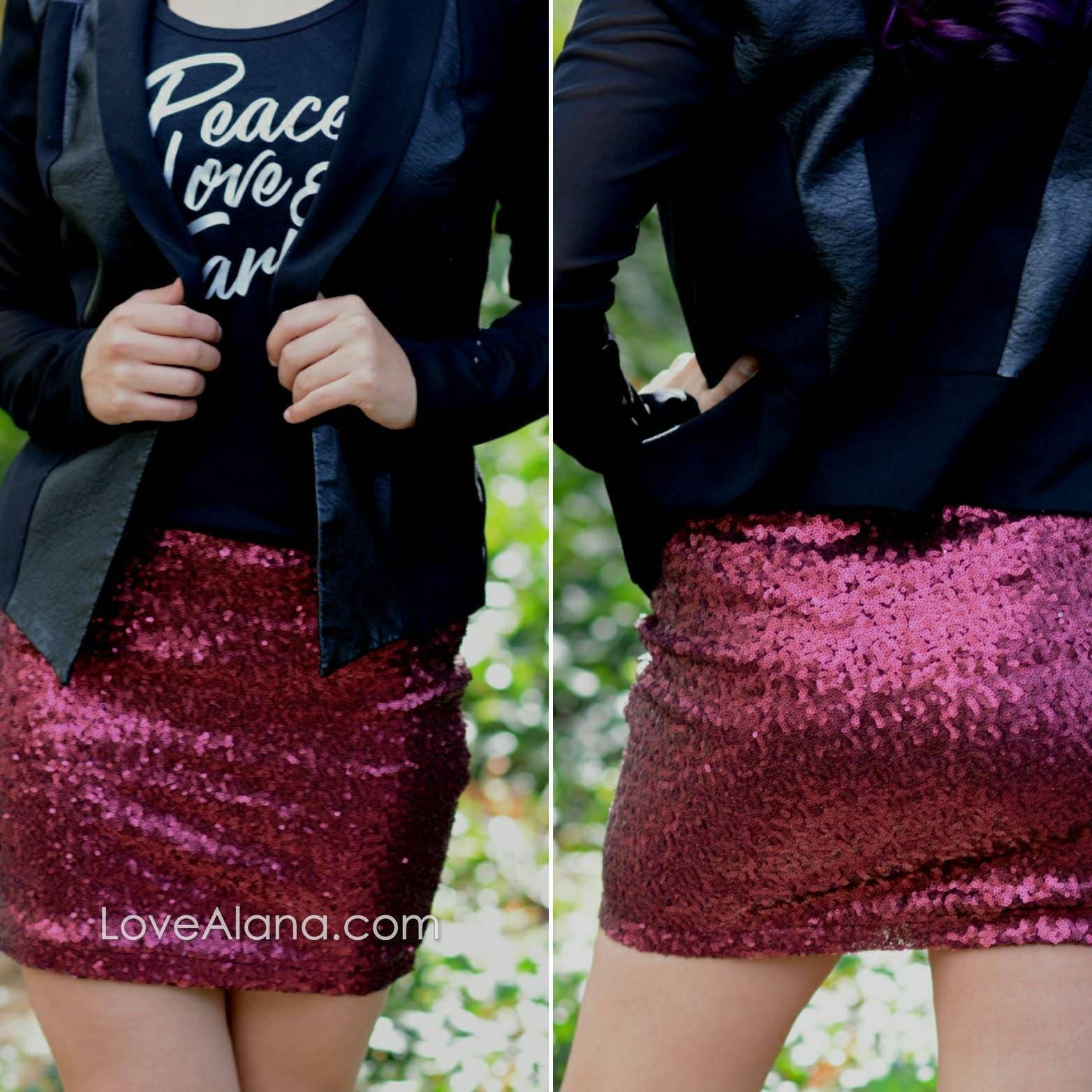 Forest Green Sequin Skirt Stretchy Small, Medium, Large, XLarge fun mini skirt beautiful Ships asap! Runs snug