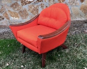 Adrian Pearsall, Craft Associates, 1806-C, low arched back lounge chair
