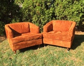 pair of club chairs by Flair inc