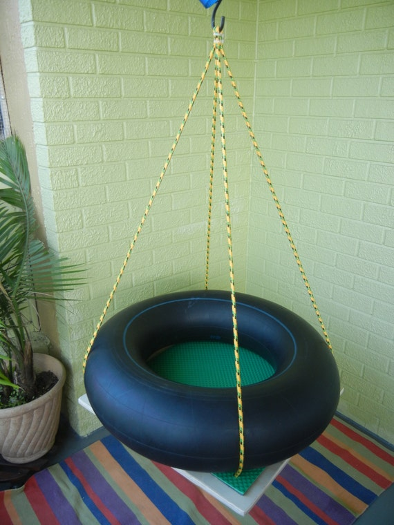 Items similar to Special needs platform tire swing small