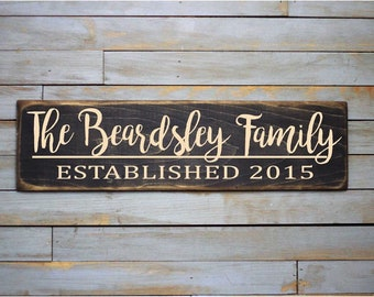 Personalized Last Name Sign BEARDSLEY Street Sign