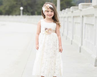 Flower girl dresses etsy flower girl dress lace flower girl dresses ivory flower girl dress rustic flower girl country flower girl champagne flower girl baby mightylinksfo
