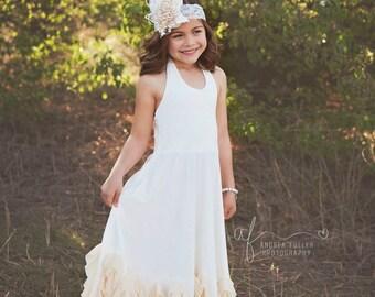 boho flower girl dress, flower girl dresses, flower girl dress rustic, vintage, girl dress, white flower girl dress, champagne, lace, posh