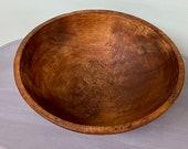 Wooden 15 1 4 Oval Dough Bowl, Wood Bread Bowl, Centerpiece Display Bowl, Primitive Treenware, Farmhouse Decor, Rustic Wooden Bowl