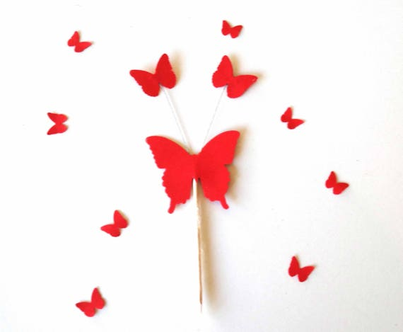 butterfly cupcake toppers explosion butterflies toothpicks etsy