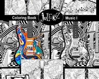 Kleurplaten Voor Volwassenen Muziek.Afdrukbare Kleuren Poster Volwassen Kleurplaten Pagina Gratis Etsy