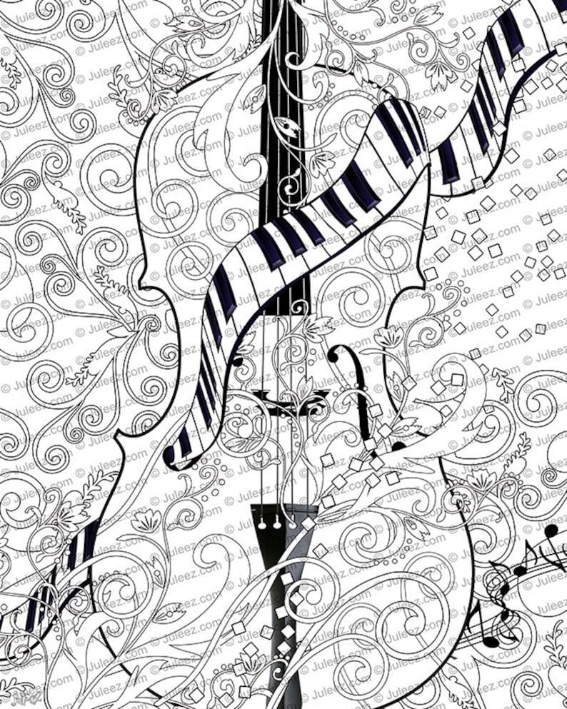kleurplaat poster instant kleurplaat poster viool