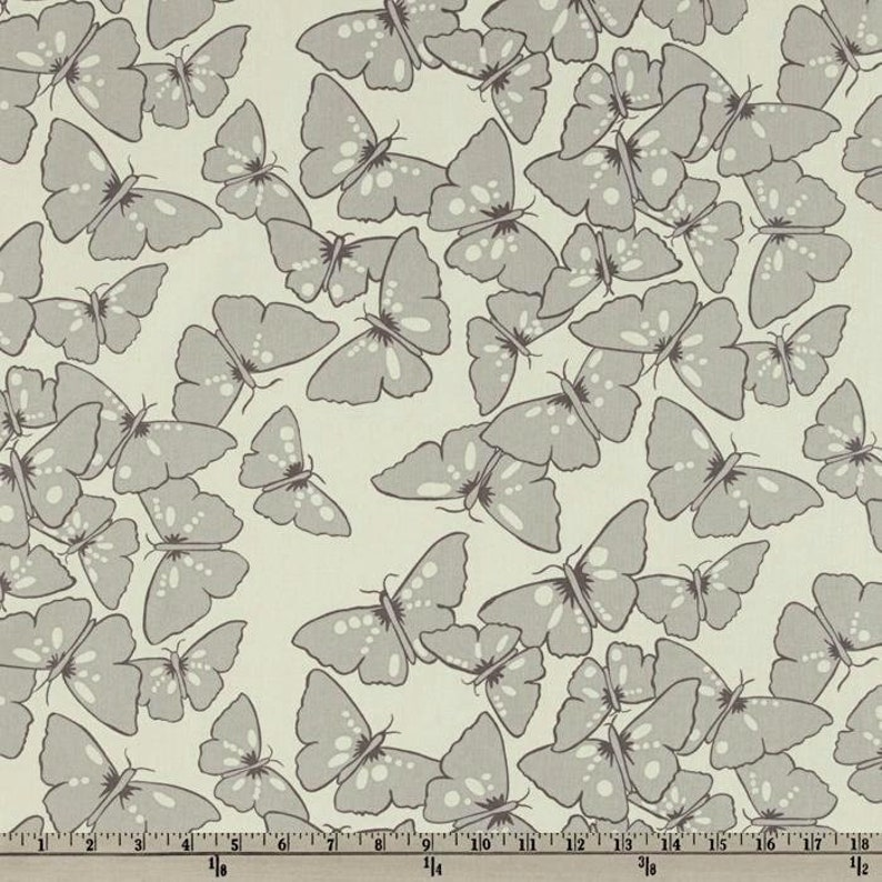 1 Yard Del Hi MONARCH VW21 EarthTaupe Gray Butterflies Insect Tone on Tone Tonal Valori Wells Free Spirit Westminster Quilting Sewing Fabric