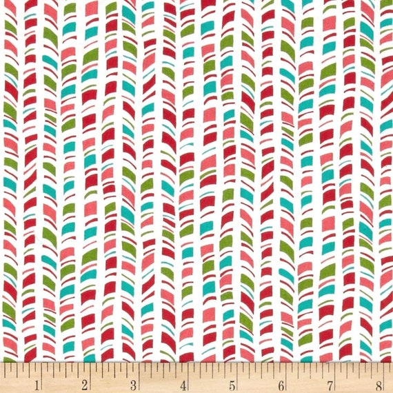 New Candy Cane Strips Christmas Quilting Fabric 100/% Cotton By 1//2 Yard
