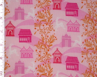 "1 Yard  LITTLE FOLKS VOILE Forest Hills Berry Pink 54/55"" Wide Anna Maria Horner Quilting Sewing Light Weight Soft Airy Free Spirit Fabric"