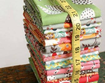 """Denyse Schmidt Complete Set 21 Fat Eighths ( 11"""" x 18"""" ) FLEA MARKET FANCY Legacy Collection Free Spirit Quilting Sewing Fabric"""