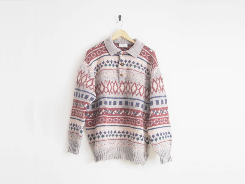 cc2867fc293 90s United Colors of Benetton Sweater. Wool Sweater. Knit