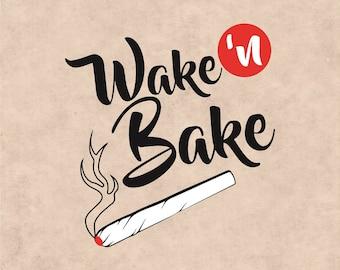 Wake n Bake, Marijuana Leaf, Ganja, Pot leaf, Cannabis Stencils, cannabis leaf clipart, Marijuana Leaf svg, I love Marijuana