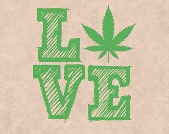 Love Marijuana, Marijuana Leaf, Ganja, Pot leaf, Cannabis Stencils, cannabis leaf clipart, Marijuana Leaf svg, I love Marijuana