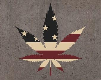 USA Marijuana Leaf, Ganja, Pot leaf, Cannabis Stencils, cannabis leaf clipart, Marijuana Leaf svg, Hemp Leaf svg, Joint svg, Weed Leaf svg