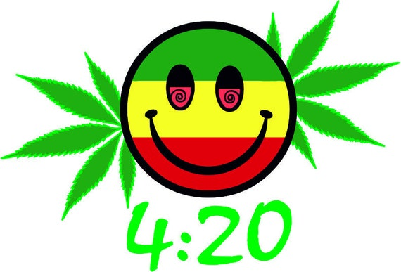 420 Happy Face Svg Cannabis Leaf Marijuana Leaf Ganja Pot Etsy