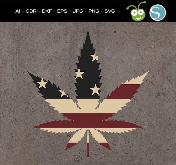 Usa Marijuana Leaf Ganja Pot Leaf Cannabis Stencils Etsy