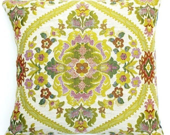 FREE SHIPPING! Vintage Jacquard pillow cover 18x18