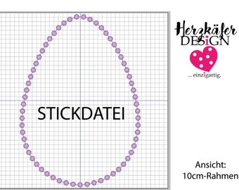 Stickdatei Punkte OSTEREI 3er Set - 3 Größen - embroidery pattern set easter egg - file for embroidery machine - Datei für Stickmaschine