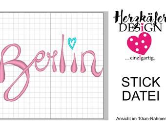 Stickdatei BERLIN 3er Set - 3 Größen - Datei für Stickmaschine