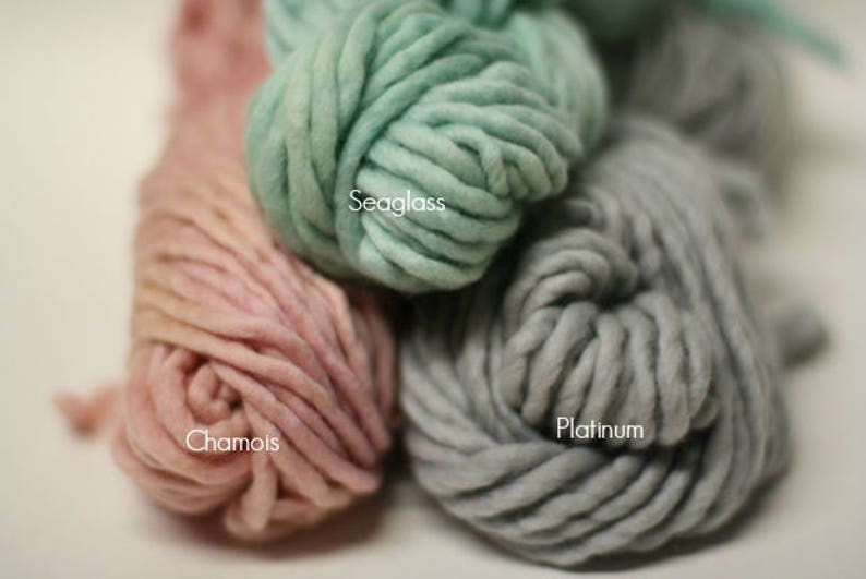 sp44 Single Ply Bulky Chunky Merino Yarn Hand Dyed Mini Skein