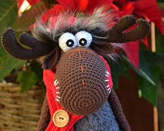 Crochet pattern - Crochet Moose by VendulkaM - Christmas decoration / Amigurumi/ digital pattern, DIY, pdf
