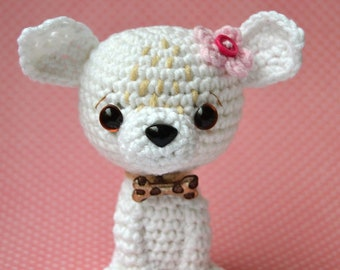 Crochet pattern - Chihuahua  by VendulkaM, amigurumi, crochet toy/digital pattern, DIY, pdf