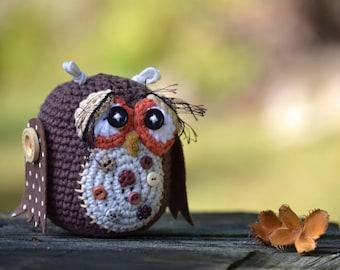 Crochet pattern - Amigurumi Owl - VendulkaM - Autumn - Fall decoration - Digital tutorial - Pdf - DIY