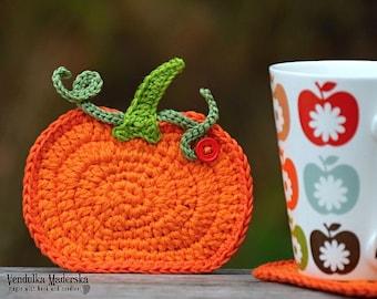 Crochet pattern - Crochet pumpkin coaster by VendulkaM - DIY - Kitchen table - Autumn - Fall - Decoration