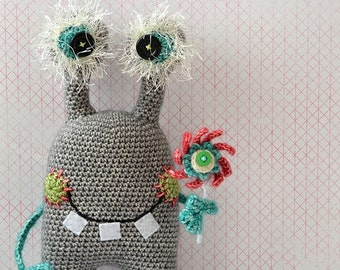 Crochet pattern - Egon, friendly monster - by VendulkaM, digital crochet pattern, amigurumi, DIY, pdf