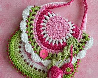 Spring crochet purse - crochet pattern by VendulkaM / digital pattern, DIY/ PDF
