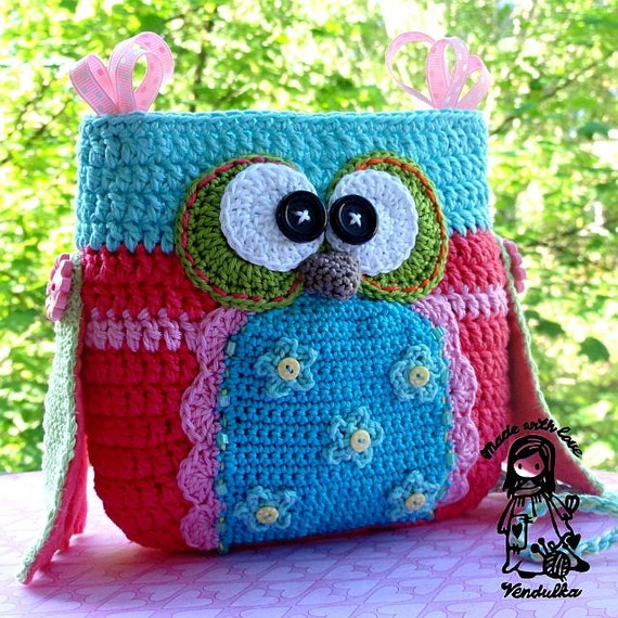 Crochet Pattern Owl Purse By Vendulkam Digital Pattern Etsy