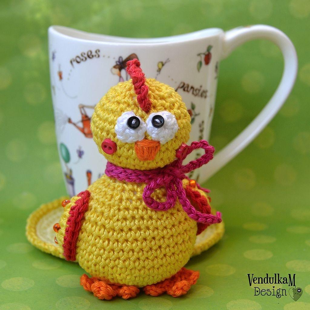 Crochet Pattern Chicken Coaster Eastern Decoration Etsy
